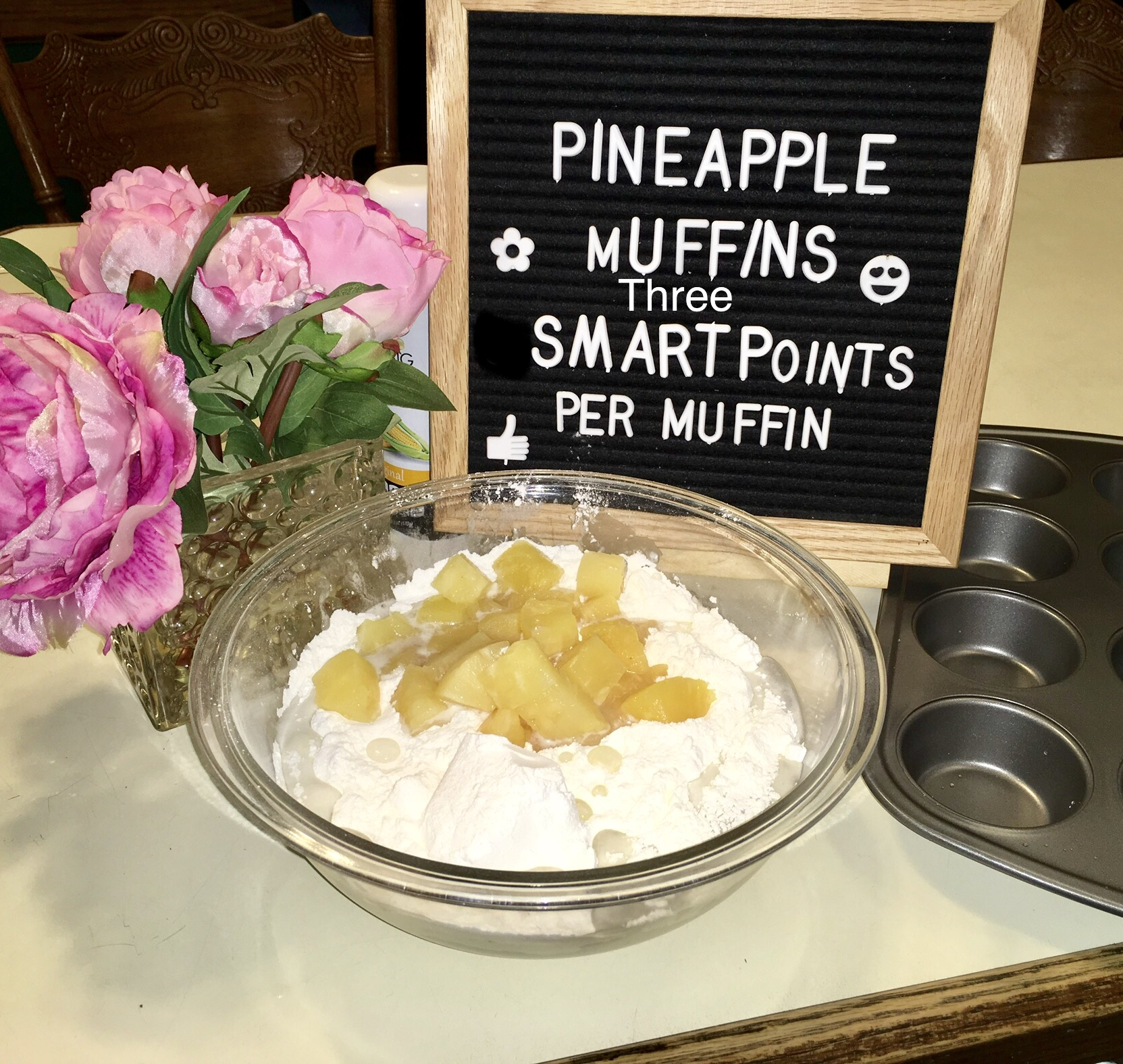 Easy Two Ingredient Pineapple Muffin Recipe