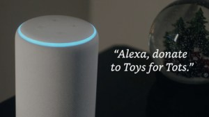 donate a toy to Toys for Tots via Alexa