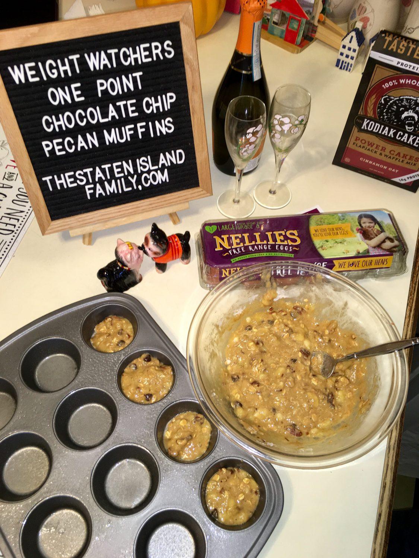 Weight Watchers One Point Chocolate Chip Pecan Muffins