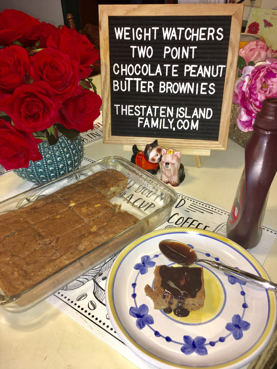 Weight Watchers Two Point Chocolate Peanut Butter Brownies