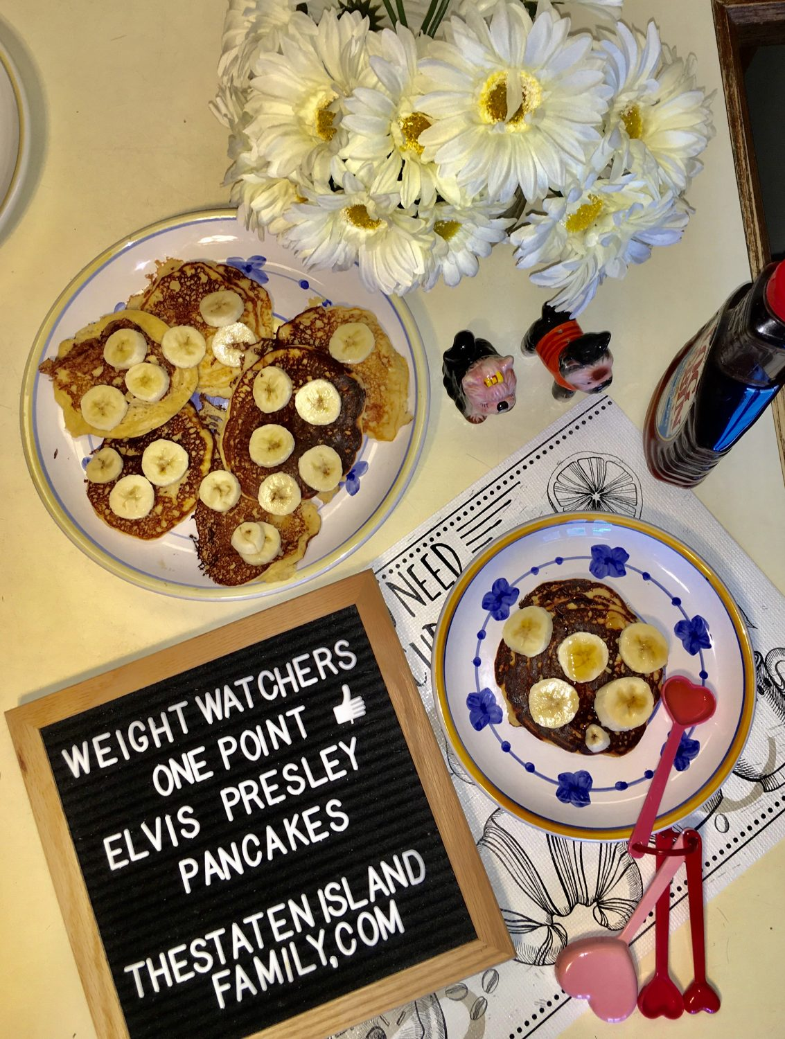 Weight Watcher One Point Elvis Presley Pancakes