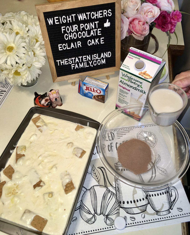Weight Watchers Chocolate eclair cake