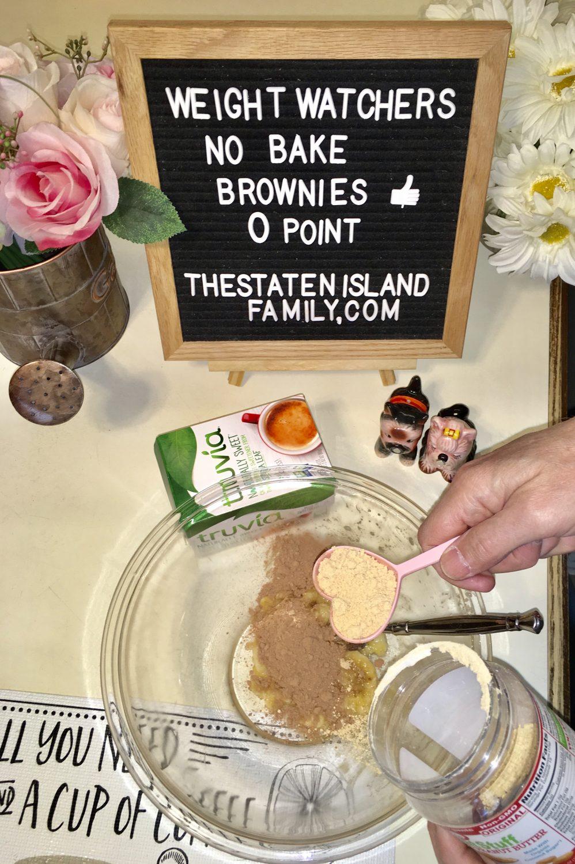 No Bake Brownies - zero points per serving