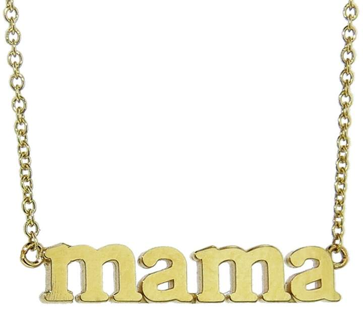 Buy yourself This TOKEN OF LOVE --This Mama necklace is the perfect everyday glitz for you stylish Mama's. Perfect for layering. Handcrafted in 18-karat yellow gold.