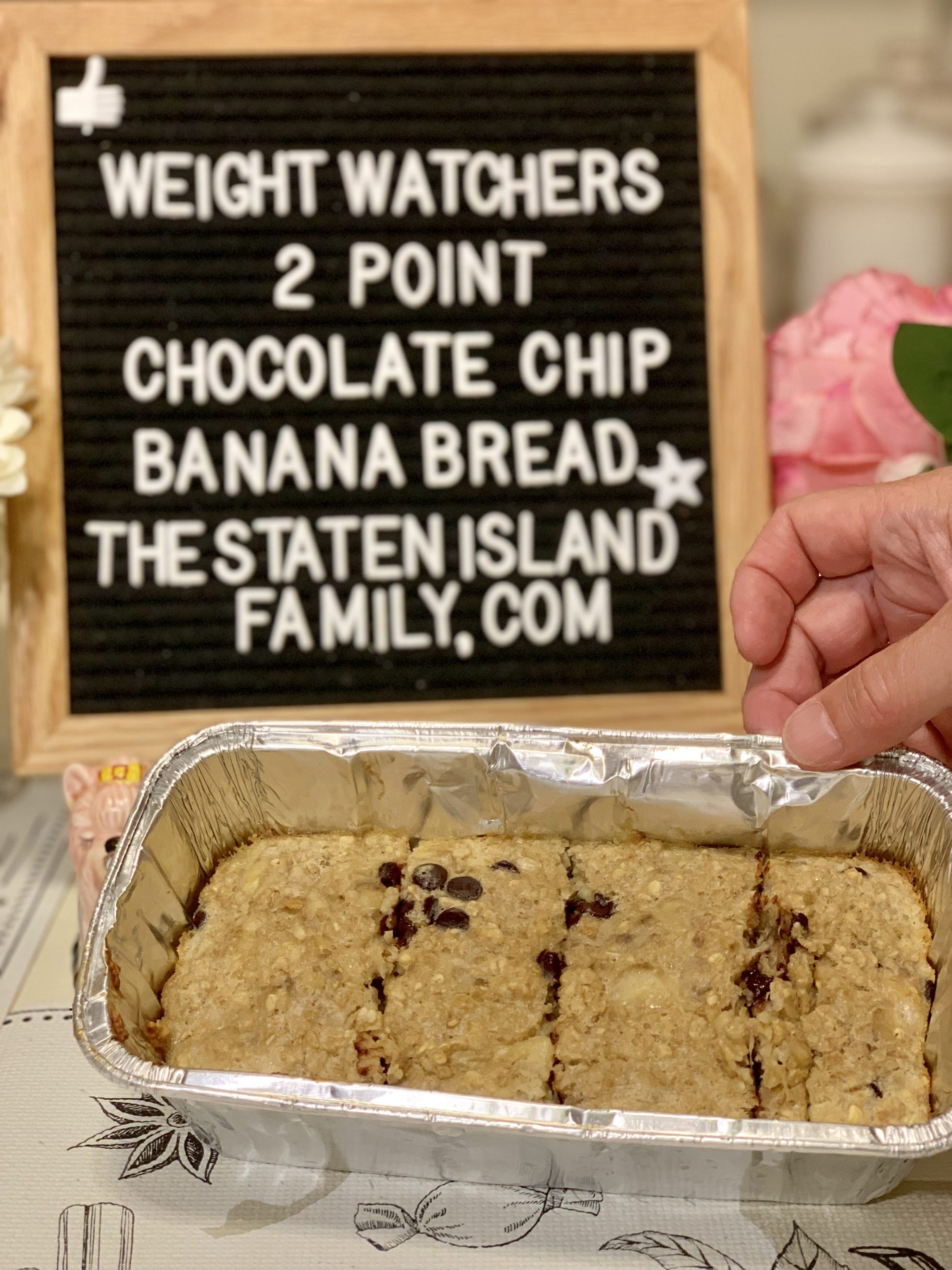 Weight Watchers chocolate chip banana bread