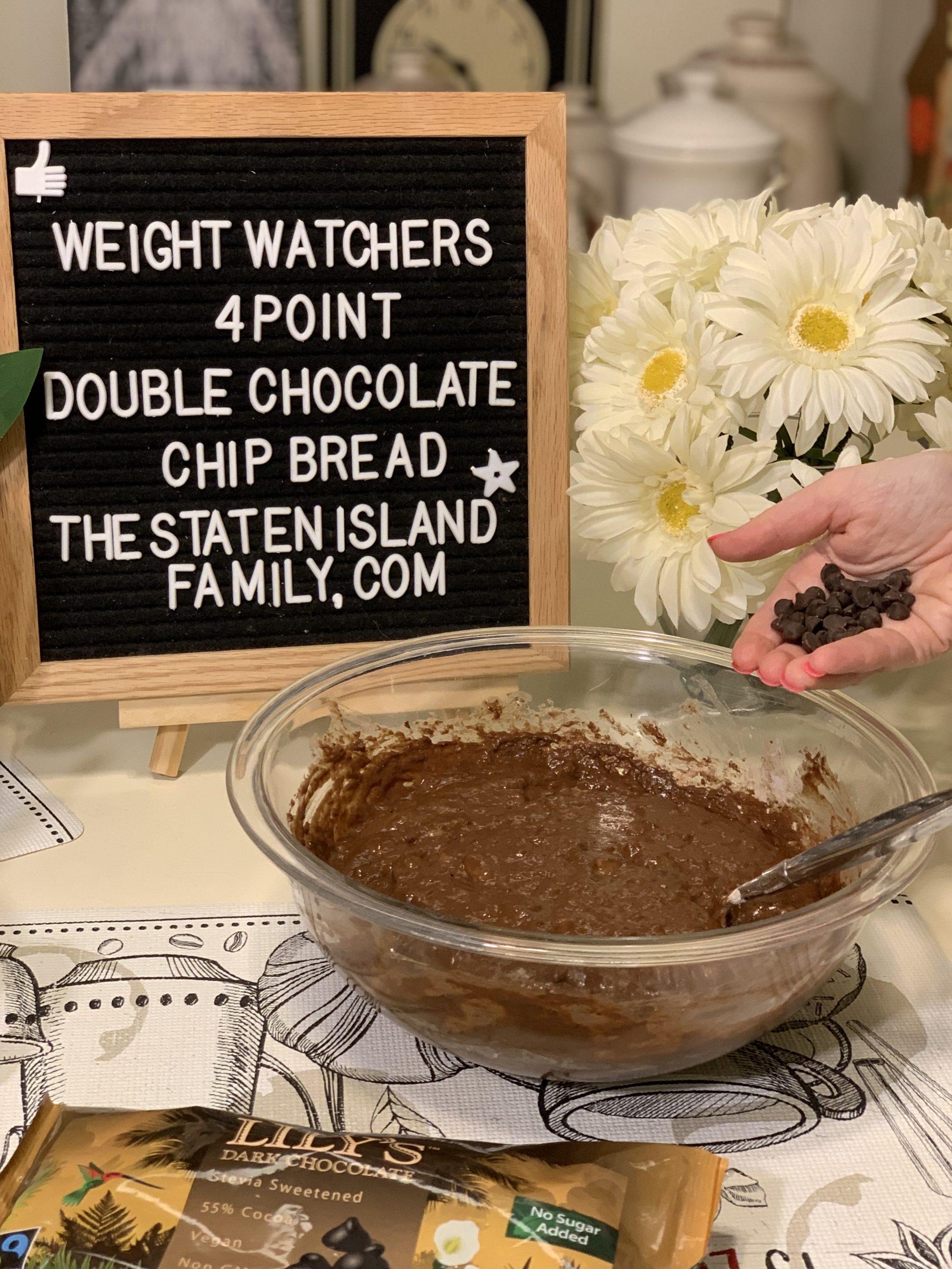 Weight Watchers Double Chocolate Chip Bread -just four points per serving