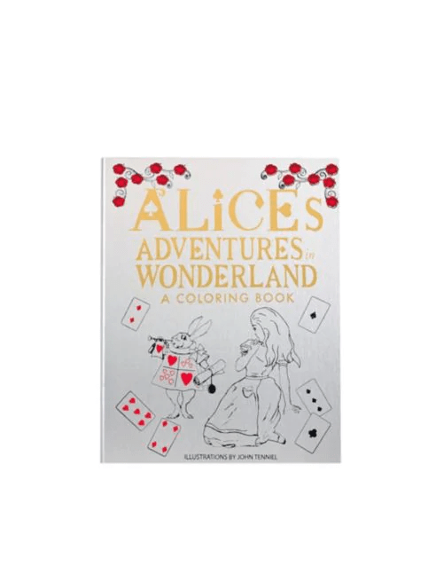 This beautiful coloring book, based on the original drawings by John Tenniel for Alice's Adventures in Wonderland, invites you to draw and bring color to Wonderland as you read along with some of your favorite characters! Vegan leather-wrapped cover