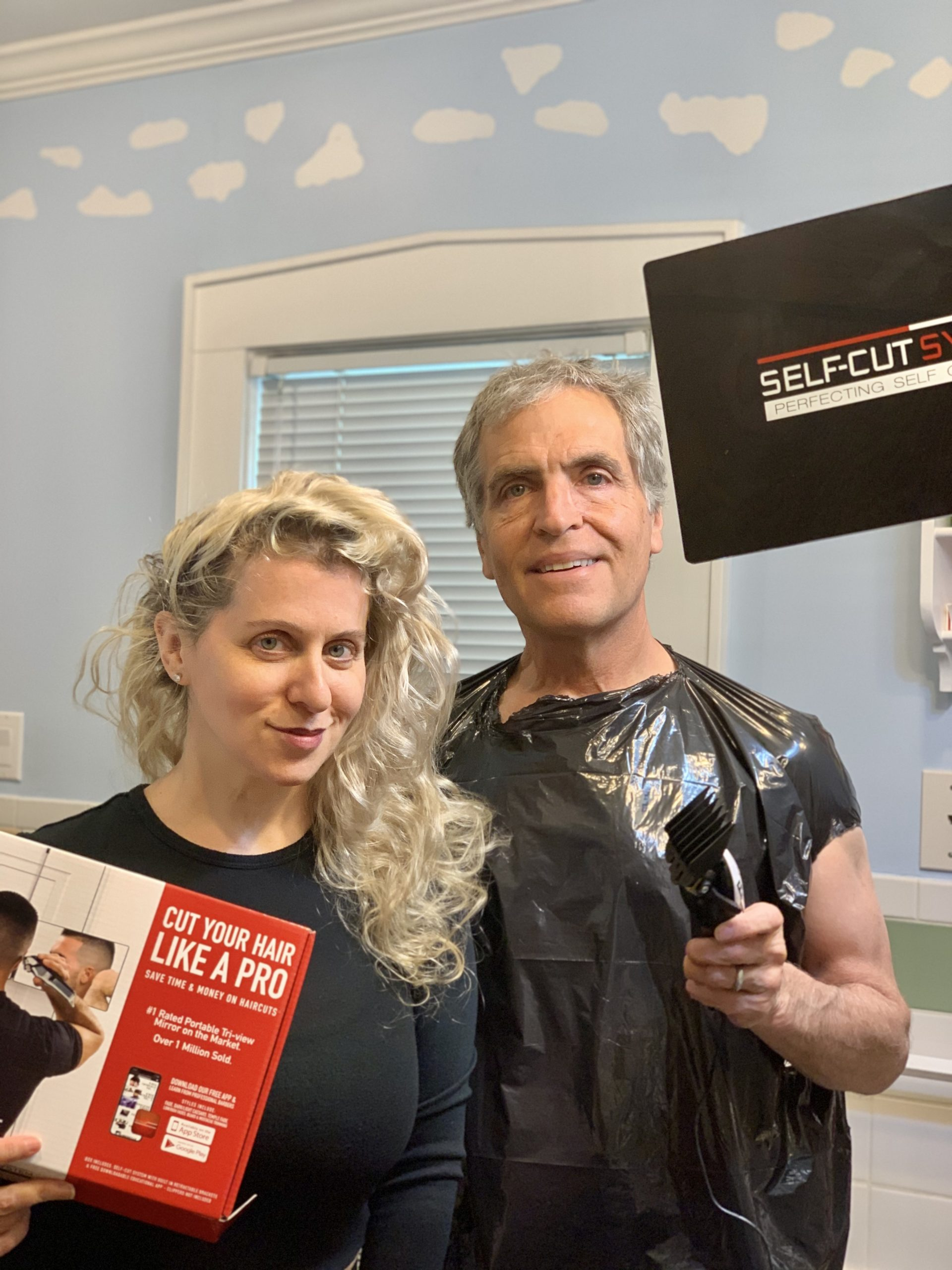 Because of COVID-19, and self-isolation, barbershops 💈 and salons have been shut down Nationwide. Millions are turning to @selfcutsystem and products to cut 💇♂️ and style their own hair. shop 🛒 for yours now https://selfcutsystem.com/ #linkinbio  Swipe right to check out this #SelfCutSystem in action -it is the perfect Father's Day gift for the dad who is observing stay at home rules !