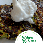 Weight Watchers Cheesy Zucchini Fritters Recipe
