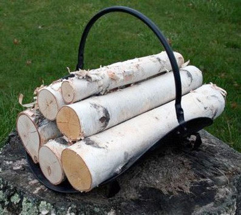 Every fireplace should have a set of these white birch logs next to or in it. This log set is carefully stacked for appearance for a nice looking set and ease of decorating. Makes a great house warming gift!