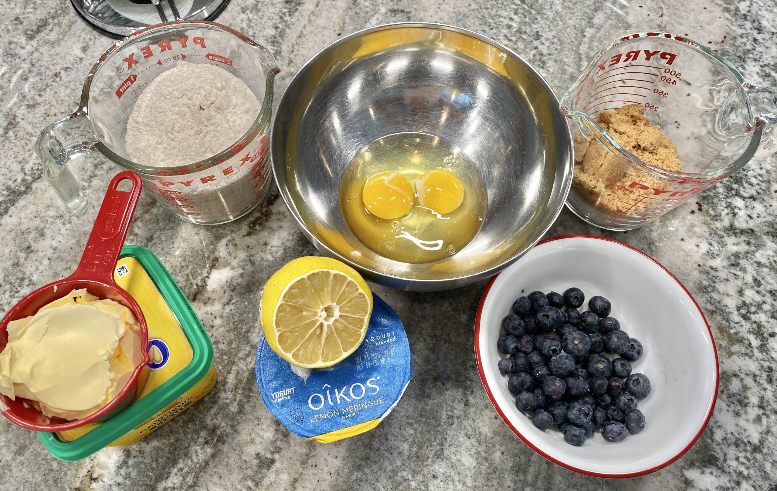 Lemon Blueberry Cobbler