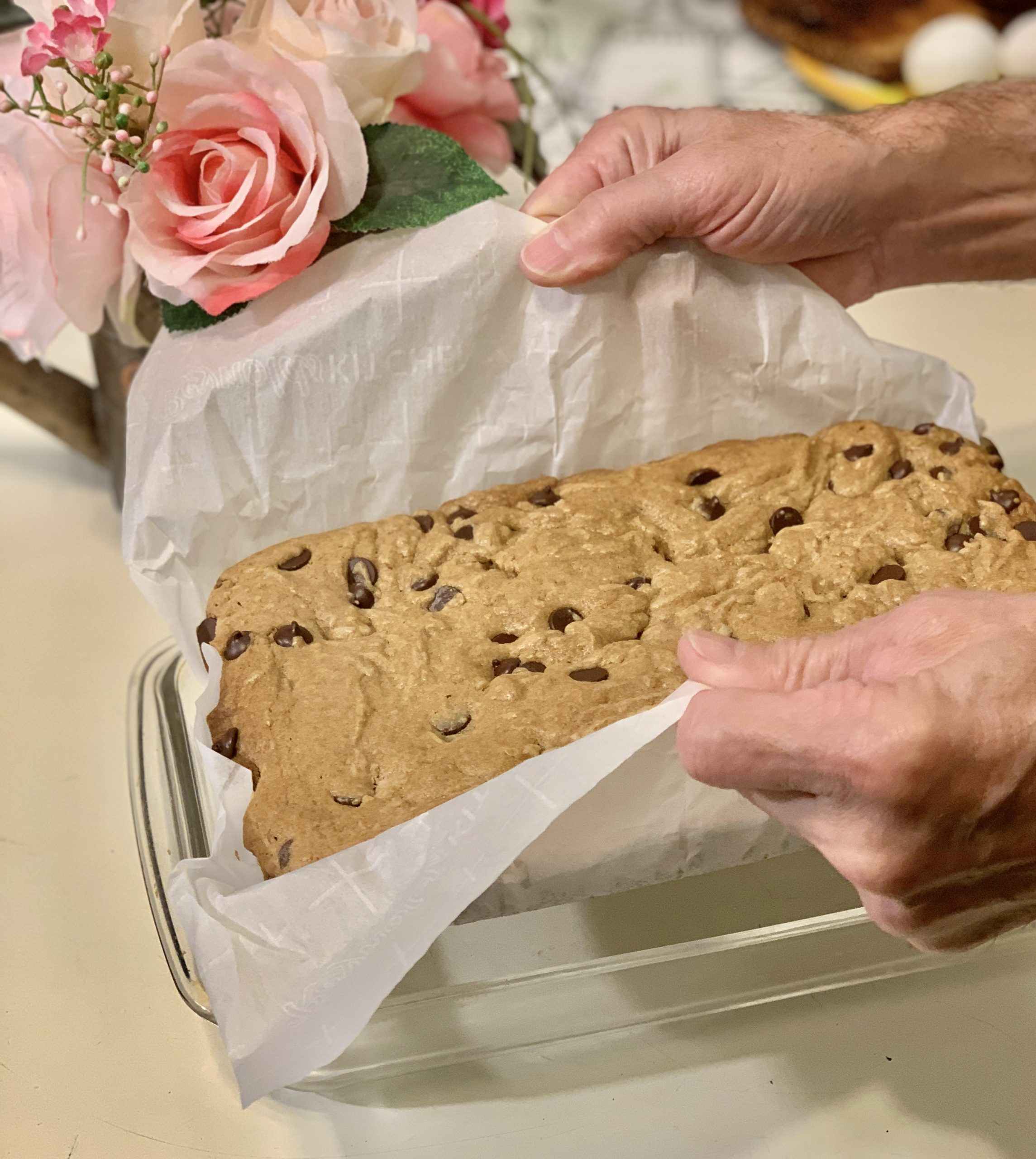 The Art of Seduction with Chocolate Chip Blondies
