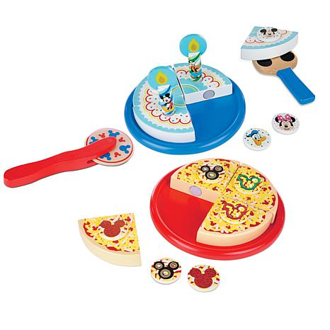 Melissa and Doug Mickey Mouse Pizza & Cake Wooden Toy Set