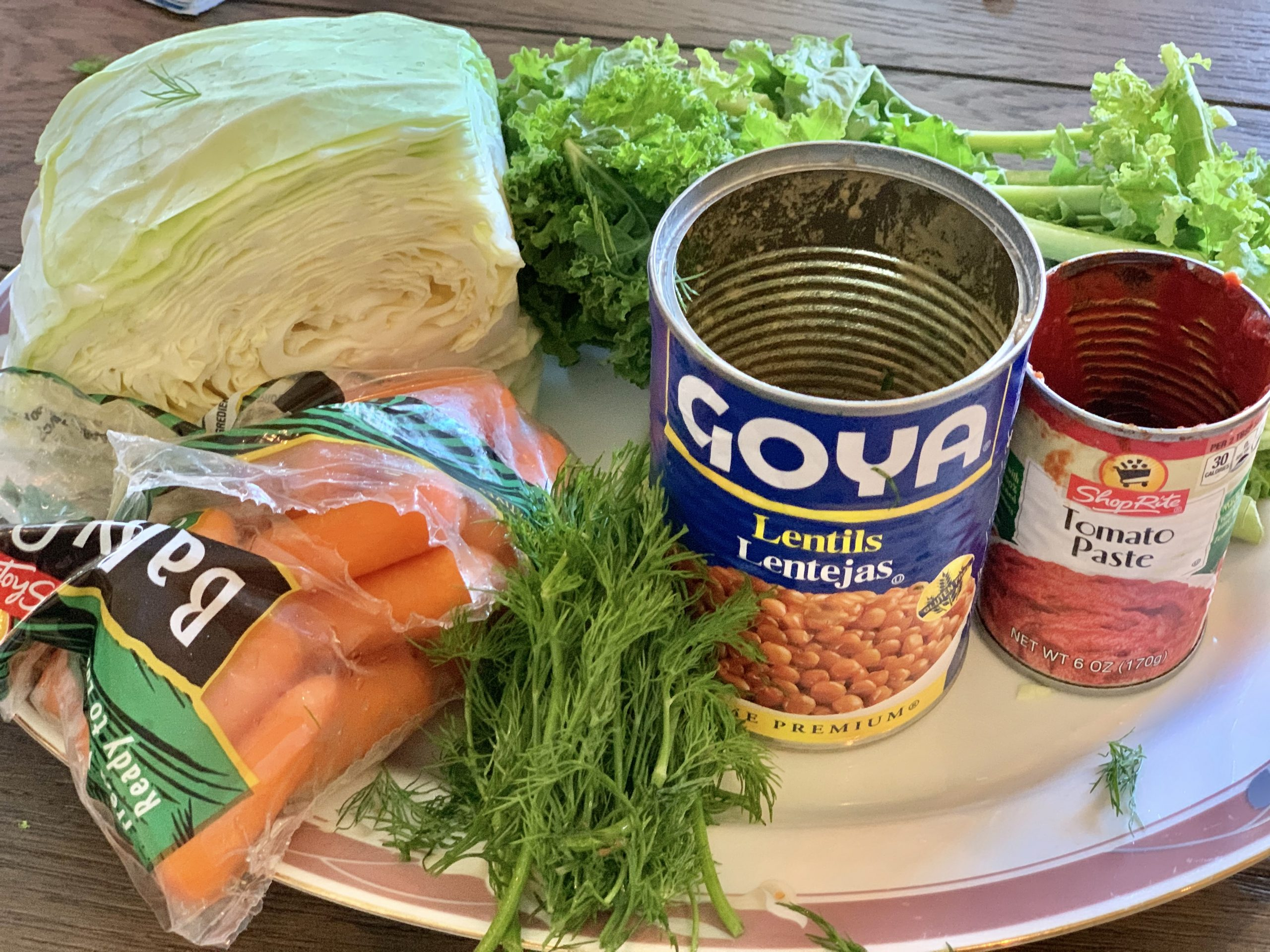 Hearty Kale and Lentil soup - One points per serving on Weight Watchers Blue