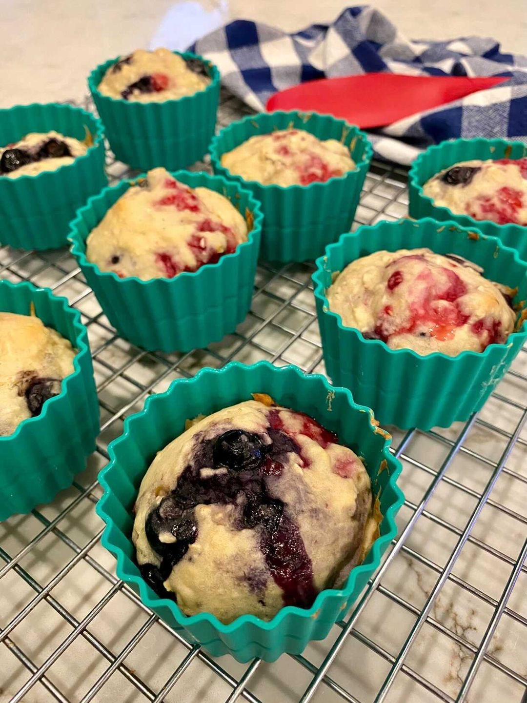 DOUBLE BERRY LEMON MUFFINS -Two points each on Weight Watchers Green
