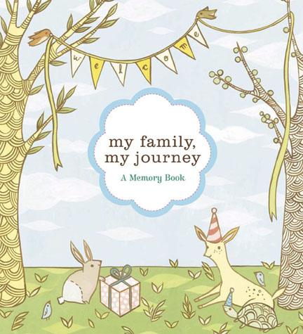 For the growing audience of adoptive families, Chronicle Books is proud to offer a baby book that suits the wide array of experiences and choices that bring a family and their new child together. This lovely keepsake album contains sections to record all the joyful milestones and cherished family moments that mark a new baby's life, pages to chart the adopted child's unique journey, as well as a sturdy pocket in which to store important documents and memorabilia. Inside the pocket are over 60 stickers you can use to customize the family tree pages. As the pages of the journal fill with memories, My Family, My Journey will stand as a lasting testament of love for the entire family.