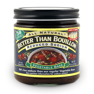 the one secret ingredient to this divinely delish soup is Reduced Sodium Better Than Bouillon® Seasoned Vegetable Base!