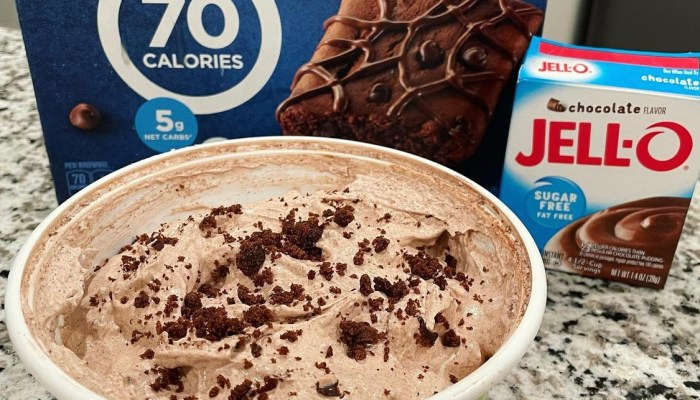 No Bake Chocolate Brownie Cool Whip – 1 point per serving on Weight Watchers Blue