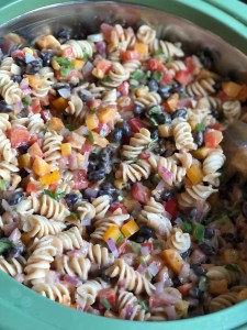 Summer Pasta Salad -Four points per serving on Weight Watchers Blue