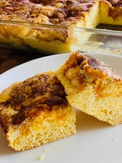 Sugared Cinnamon Pumpkin Swirl Snack Cake