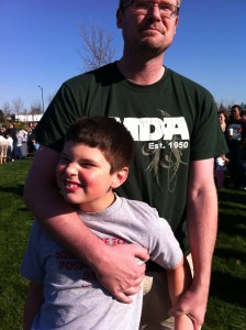 My son at an egg hunt 2 years ago.  We had to hold him back, he was so excited.