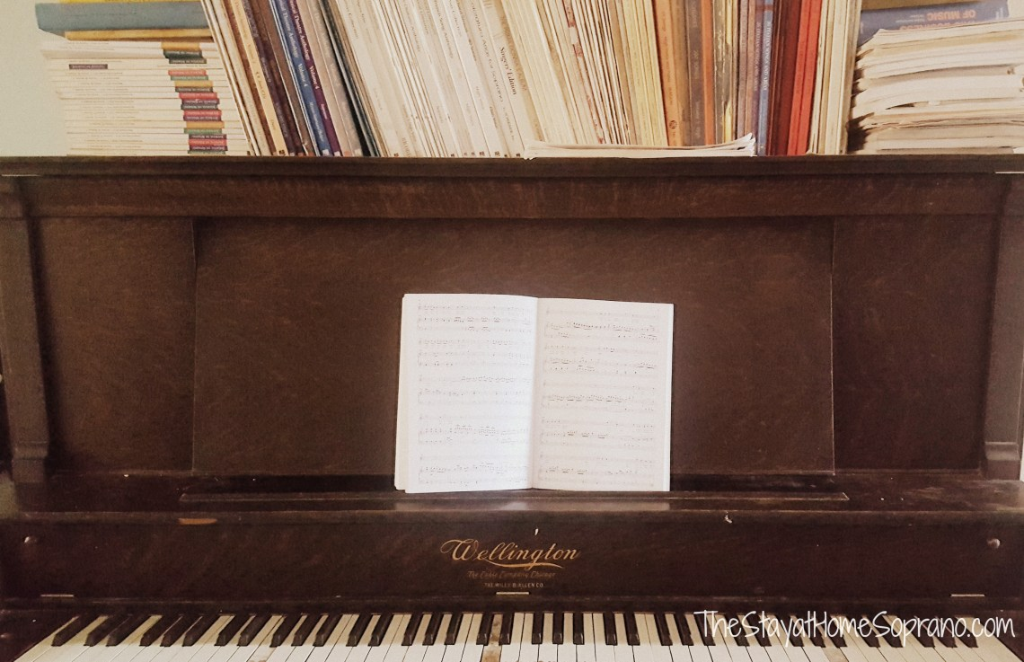 Classical music on an antique piano