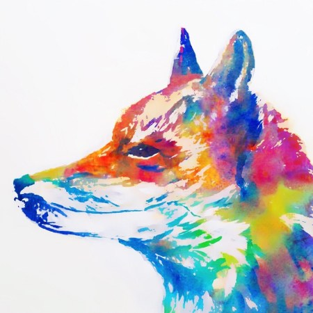 The Steel Rooms Watercolour Fox Card