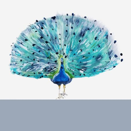 Julie Steel Designs The Steel Rooms Peacock Card
