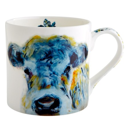 Julie Steel Blue Cow Mug The Steel Rooms