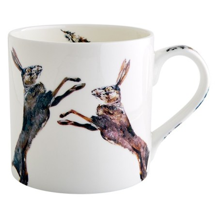 The Steel Rooms Fighting hares mug
