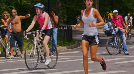 Runners and cyclists