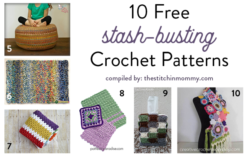 10 Free Stash-Busting Crochet Patterns
