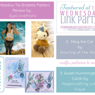 The Wednesday Link Party 355 featuring the Meadow Tie Bralette
