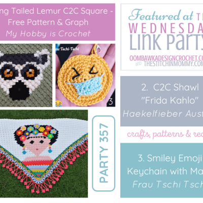 The Wednesday Link Party 357 featuring Ring Tailed Lemur C2C Square