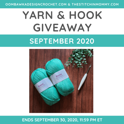Monthly Yarn and Hook Giveaway – September 2020 featuring WeCrochet and Furls
