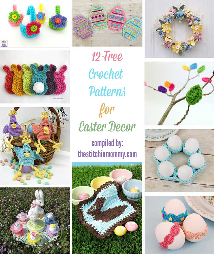 12 Free Crochet Patterns For Easter Decor The Stitchin Mommy