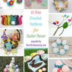 12 Free Crochet Patterns for Easter Decor