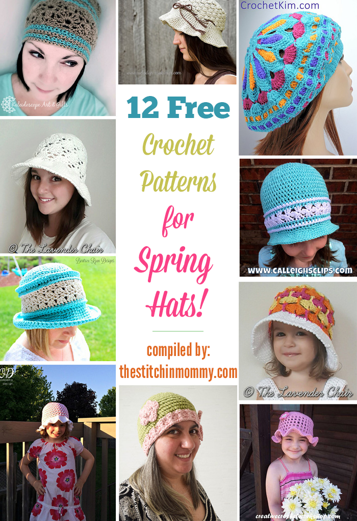 12 Free Crochet Patterns For Spring Hats The Stitchin Mommy