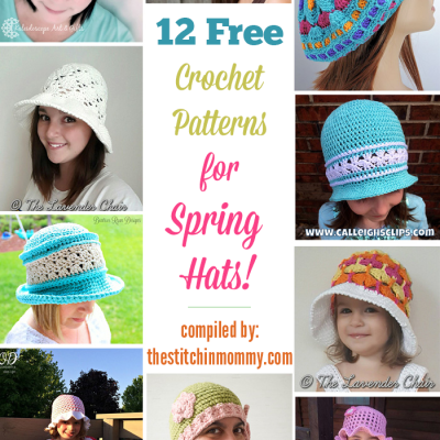12 Free Crochet Patterns for Spring Hats