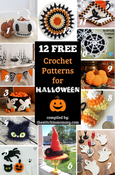 12 Free Halloween-Themed Crochet Patterns compiled by The Stitchin' Mommy | www.thestitchinmommy.com