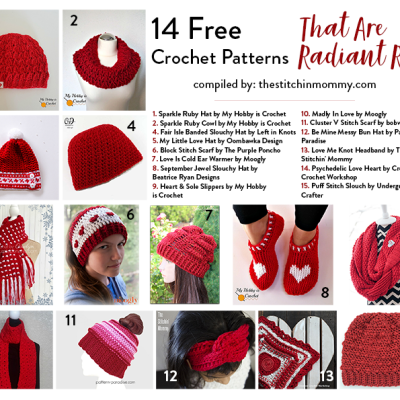 14 Free Crochet Patterns That Are Radiant Red