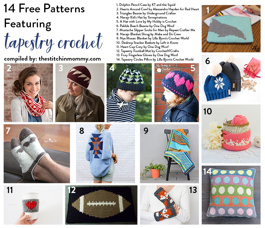 40 Free Patterns Featuring Tapestry Crochet The Stitchin Mommy Beauteous Tapestry Crochet Patterns Free