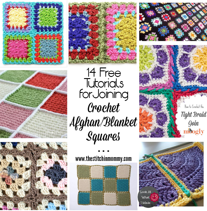 14 Free Tutorials For Joining Crochet Afghanblanket Squares The