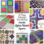14 Free Tutorials for Joining Crochet Afghan/Blanket Squares