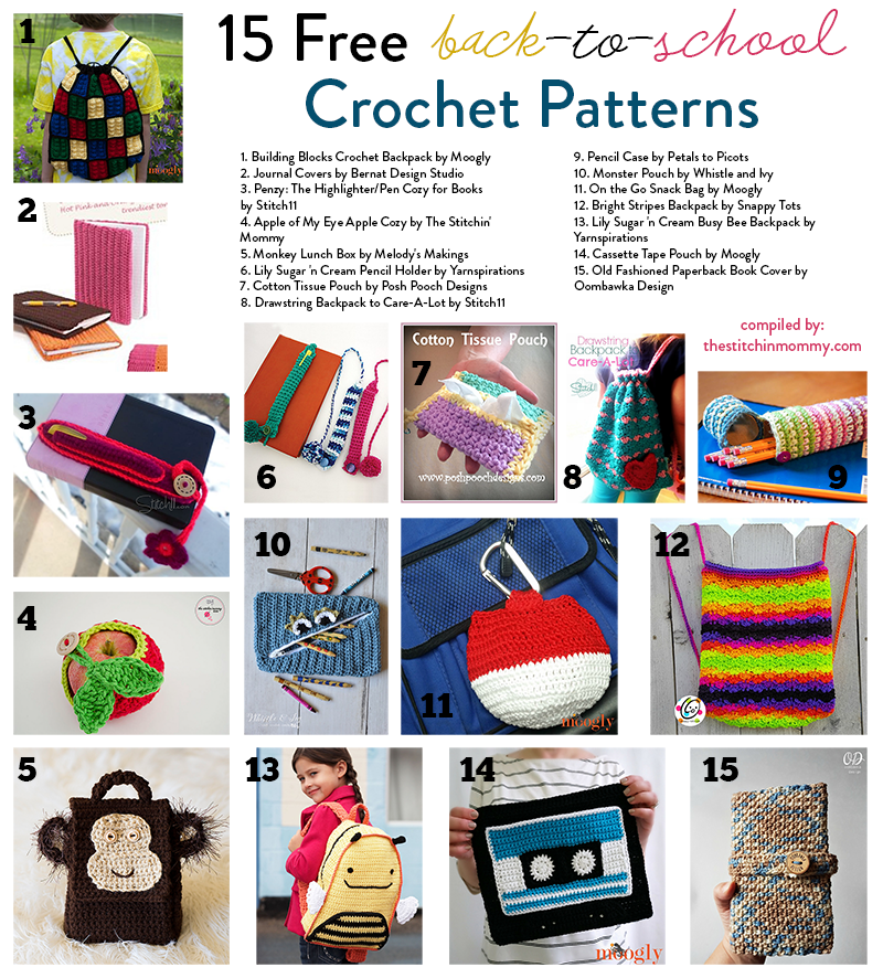 60 Free BackToSchool Crochet Patterns The Stitchin Mommy New Cotton Crochet Patterns