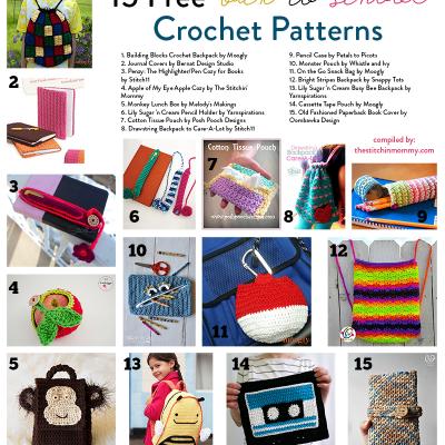 15 Free Back-To-School Crochet Patterns