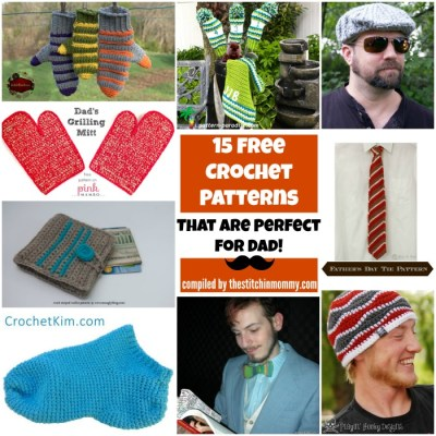 15 Free Crochet Patterns That Are Perfect for Dad