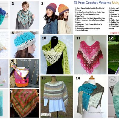 15 Free Crochet Patterns Using Caron Cakes
