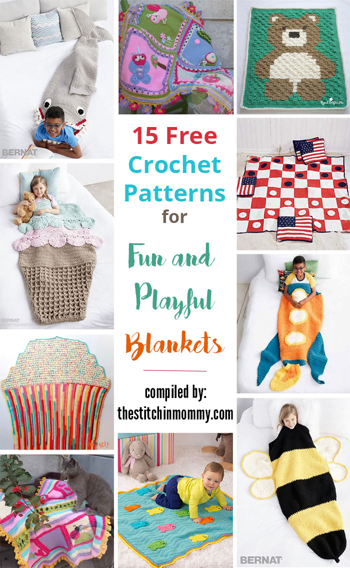 15 Free Crochet Patterns for Fun and Playful Blankets - The Stitchin ...