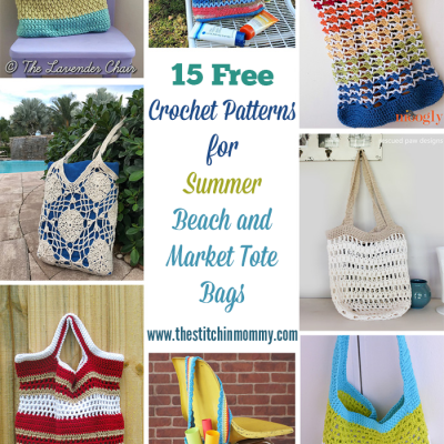 15 Free Crochet Patterns for Summer Beach and Market Tote Bags